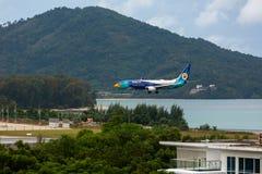Boeing 737 Nokair llega el aeropuerto foto de archivo libre de regalías