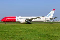 Boeing norvegese 787 fotografia stock