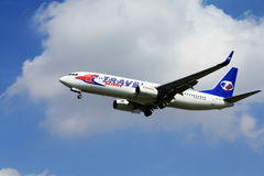 Boeing in nubi fotografia stock