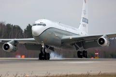Boeing Oc-135W 61-2670 των ανοιχτών ουρανών Ηνωμένης Πολεμικής Αεροπορίας προσγειώνομαι στη βάση Πολεμικής Αεροπορίας Kubinka Στοκ Φωτογραφίες