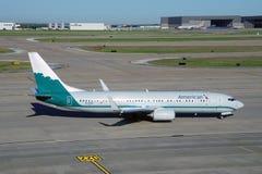 Boeing 737-800 od American Airlines malującego w starych liberia kolorach Piedmond linie lotnicze (AA) Fotografia Royalty Free