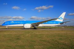 Boeing 787 od KLM Zdjęcia Stock