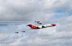 Boeing 727 olje- svarsnivå på Farnborough airshow 2016 Arkivbild