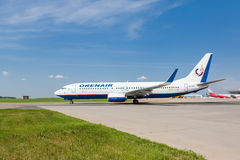 Boeing 737 Orenair Airlines standing at Vnukovo Stock Image