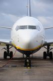 Boeing 737-800 parked, England. Royalty Free Stock Photography