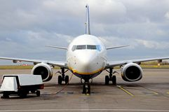 Boeing 737-800 parked, England. Royalty Free Stock Photo