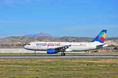 Boeing Passenger Aircraft Small Planet Royalty Free Stock Photography