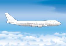 Boeing 747 passenger plane, drawing, illustration. Boeing 747 passenger plane, drawing, vector file Royalty Free Stock Image