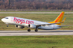 Boeing 737 Pegasus airlines Stock Photography