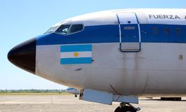 Boeing 707 presidential plane from Argentina Royalty Free Stock Photography
