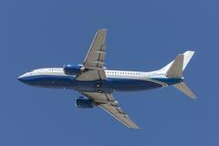 Boeing 737 privé die straal door het het Zandbedrijf van Las Vegas in werking wordt gesteld Royalty-vrije Stock Afbeeldingen