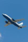 Boeing 737 privé die straal door het het Zandbedrijf van Las Vegas in werking wordt gesteld Royalty-vrije Stock Fotografie