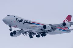 Boeing 747-8R7F LX-VCA Cargolux Stockfoto