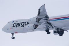 Boeing 747-8R7F LX-VCA Cargolux Stockfotografie