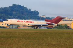 Boeing 727 Raya Airways, 9m-TGH Royaltyfri Foto
