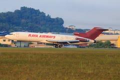 Boeing 727 Raya drogi oddechowe, 9m-TGH Zdjęcie Royalty Free