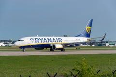 737 boeing ryanair Royaltyfri Bild
