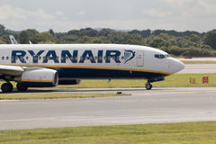 737 boeing ryanair Royaltyfri Fotografi