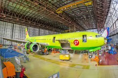 Boeing 767 S7 airlines, airport Tolmachevo, Russia Novosibirsk 12 April 2014 Royalty Free Stock Photography