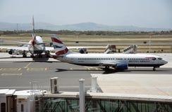 Boeing samolot przy Kapsztad lotniskiem Zdjęcie Stock