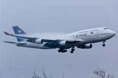 Boeing saudita 747 Immagine Stock