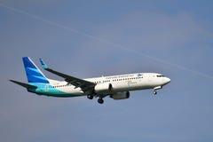 Boeing 737 landing  Stock Image