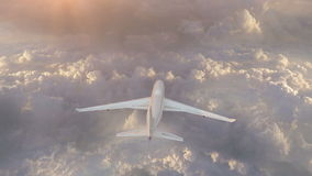 Boeing 747 In The Sky stock video footage