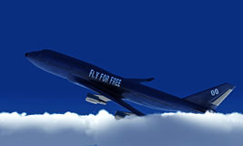 Boeing in the sky Royalty Free Stock Photography