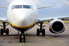 Boeing 737-800 flygplan. Royaltyfria Bilder