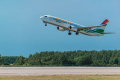 Boeing 737-900 Somon Air take off from airport Royalty Free Stock Photography