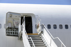 Boeing 747 stairs. Royalty Free Stock Images