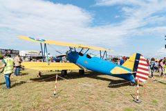Boeing Stearman Kaydet aircraft during Air Show Stock Images
