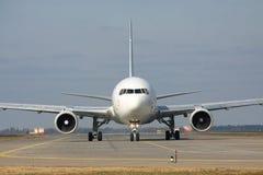 Boeing 767 sulla pista Fotografie Stock