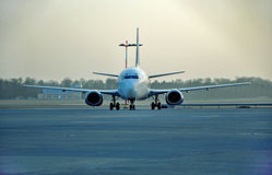 Boeing sur la piste Image stock