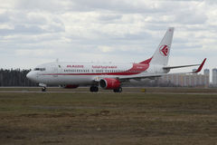 The Boeing 737-800 (7T-VKA) company Air Algerie landed at Sheremetyevo airport. Moscow Royalty Free Stock Photo