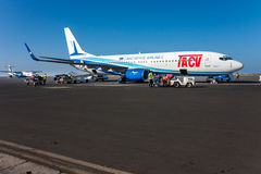 Boeing 737-800 TACV Photo stock