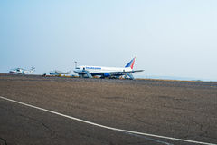 Boeing 767-Before tagande-av Royaltyfria Foton