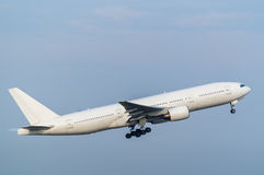 Boeing 777-200. Taking off from the Haneda International Airport, Japan Stock Photography