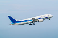 Boeing 787-8. Taking off from the Haneda International Airport in Tokyo, Japan Stock Image