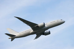Boeing 787-8. Taking off from the Narita International Airport in Tokyo, Japan royalty free stock images