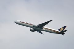 Boeing 777 taking off Stock Images
