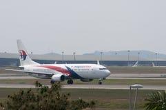 Boeing 737 tar av Fotografering för Bildbyråer