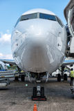 Boeing 737 at the terminal Royalty Free Stock Image
