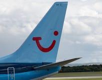 737 boeing thomson Royaltyfria Foton