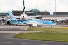 737 boeing thomson Royaltyfri Bild