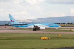 737 boeing thomson Royaltyfri Fotografi