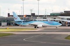 737 boeing thomson Arkivfoton