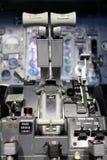 Boeing thrust levers. Boeing 737 clasic flight deck Stock Photo