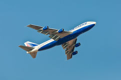 Boeing 747-200 Transaero Airlines takes off from Sharm El Sheikh Stock Photography
