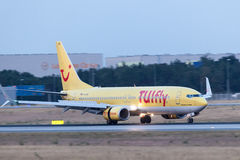 Boeing 737-800 of TUIfly after landing Royalty Free Stock Image